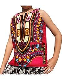 23d69d3647ec Brand Dashiki Childrens Cotton Summer Vest Shirt in Bold Colours
