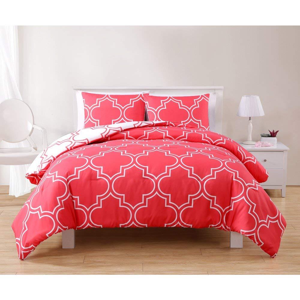VCNY Gia Reversible 3-Piece Comforter Set 3 Piece Queen Full Full Queen