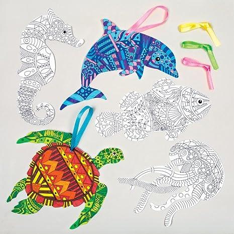 Decorazioni Con Animali Marini Da Colorare Con Creatività Per