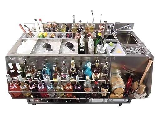 Encimera de bar para la preparación de cócteles: Amazon.es: Hogar