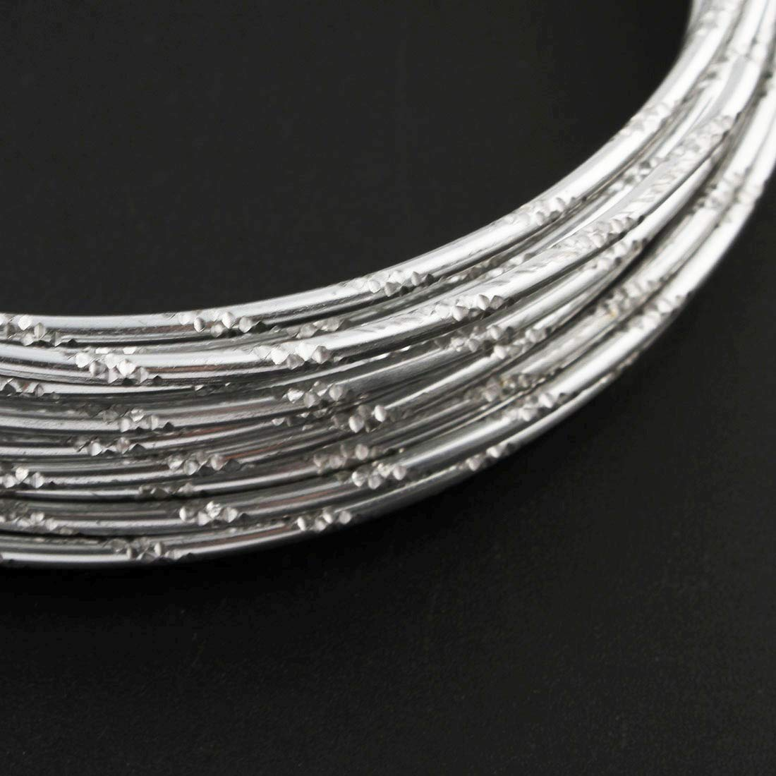 Lackdraht Schmuckdraht Perlendraht Meterware C78 x5 Aludraht 2mm Aluminiumdraht Silberfarbe Diamant Effekt 25 Meter