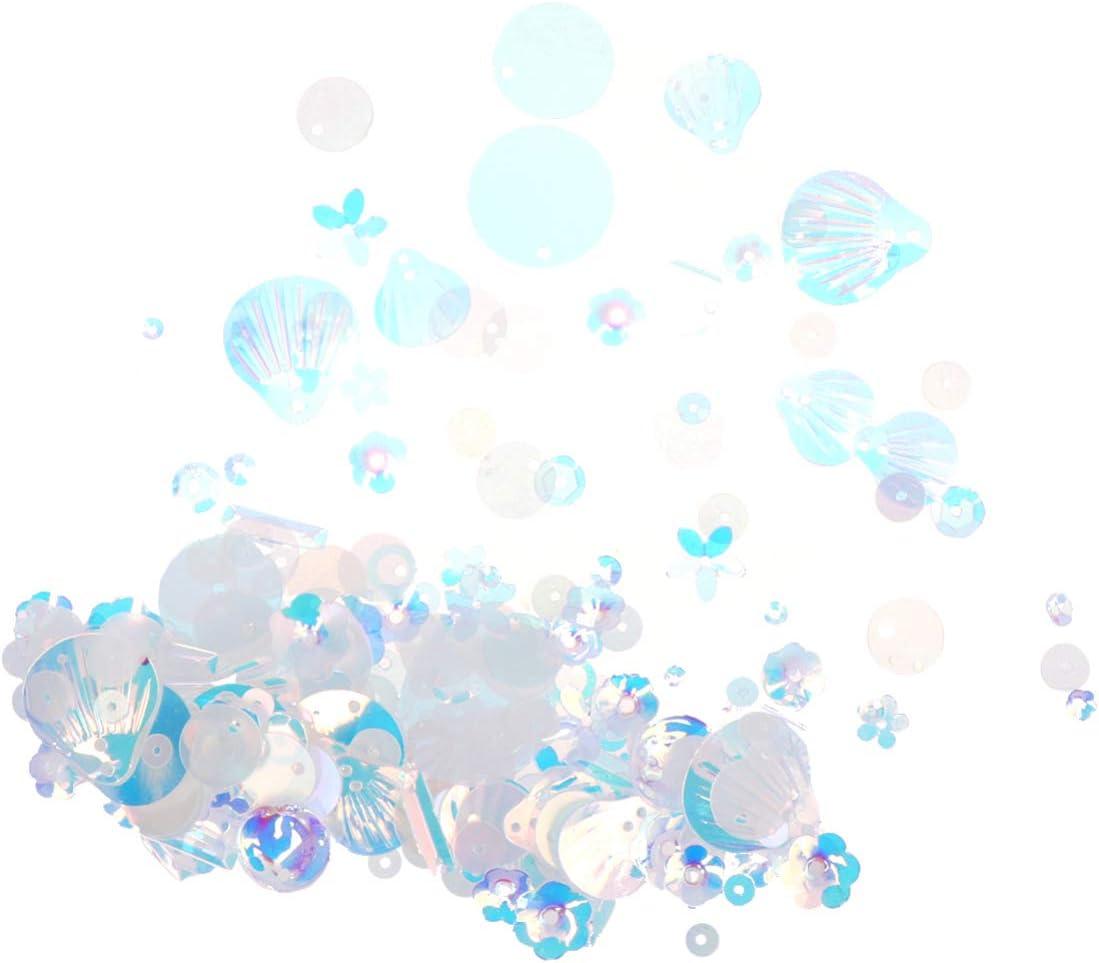 Artibetter Paquete de 2 Lentejuelas Y Lentejuelas Cuentas de Perlas Espaciador Suministros de Artesanía Pedrería de Acrílico Adornos de Piedras Preciosas 10 G/Paquete de Color Beige