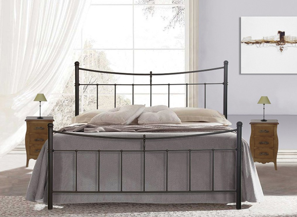 Elegantes Bett aus Schmiedeeisen : Kollektion LIBERTY 160x200