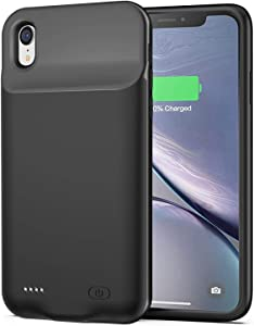 Battery Case for iPhone XR, 6500mAh Slim Protective Portable Charging Case Rechargeable Extended Battery Pack for iPhone XR (6.1 inch) Charger Case (Black)