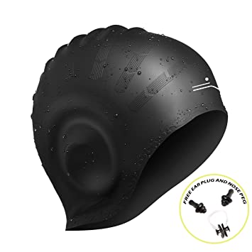 Gorra de baño de silicona premium con bolsillos ergonómicos en la ...