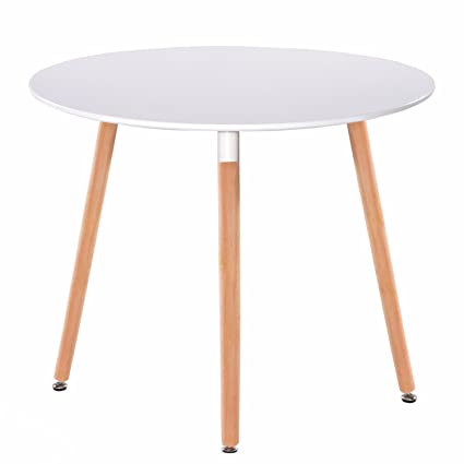 amazon com greenforest dining table white modern round table with