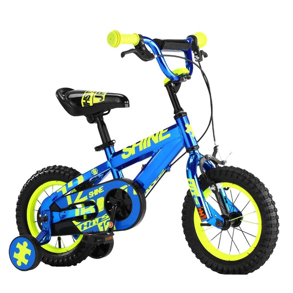 子供用自転車、24歳の男の子用の自転車、12インチ、高さ85105cm (Color : Blue) B07D2G8SMZ