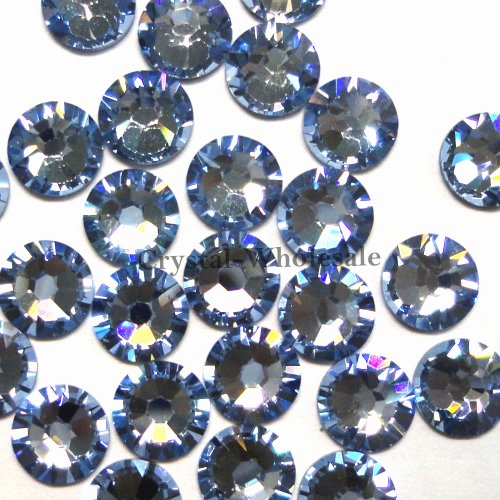 Swarovski Rhinestone Crystal Light Sapphire (1,440 pcs Light Sapphire (211) Swarovski 2058 Xilion / NEW 2088 Xirius 16ss Flat backs Rhinestones 4mm ss16)