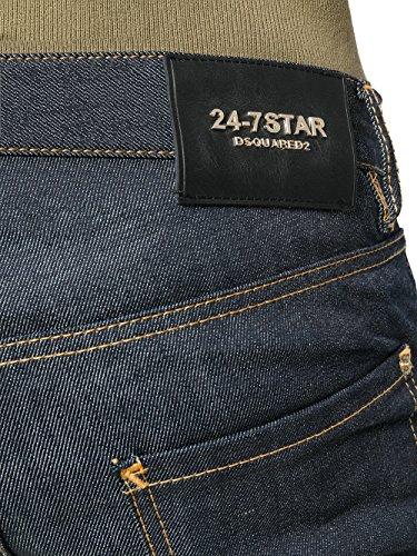 S75LA0981S30144470 Coton Bleu Femme Jeans Dsquared2 UO75q