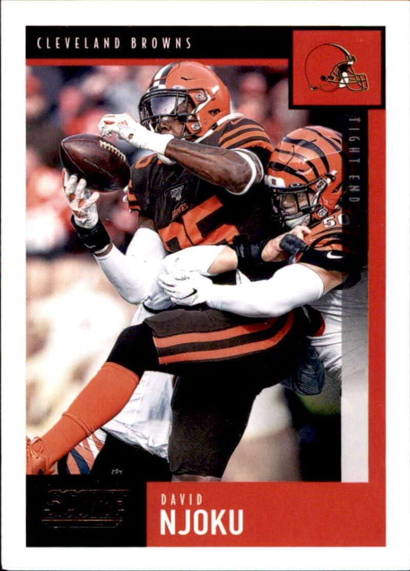 Amazon Com 2020 Score 64 David Njoku Cleveland Browns Football Card Collectibles Fine Art