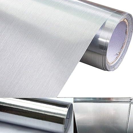 Amazon.com: Aspecto de metal calcomanía papel de contacto ...