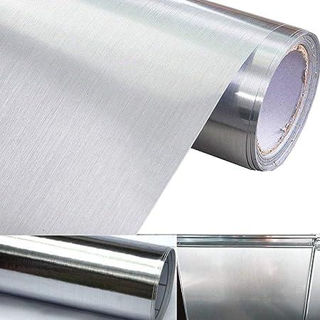 Adhesivo de papel de contacto con aspecto de metal metálico ...