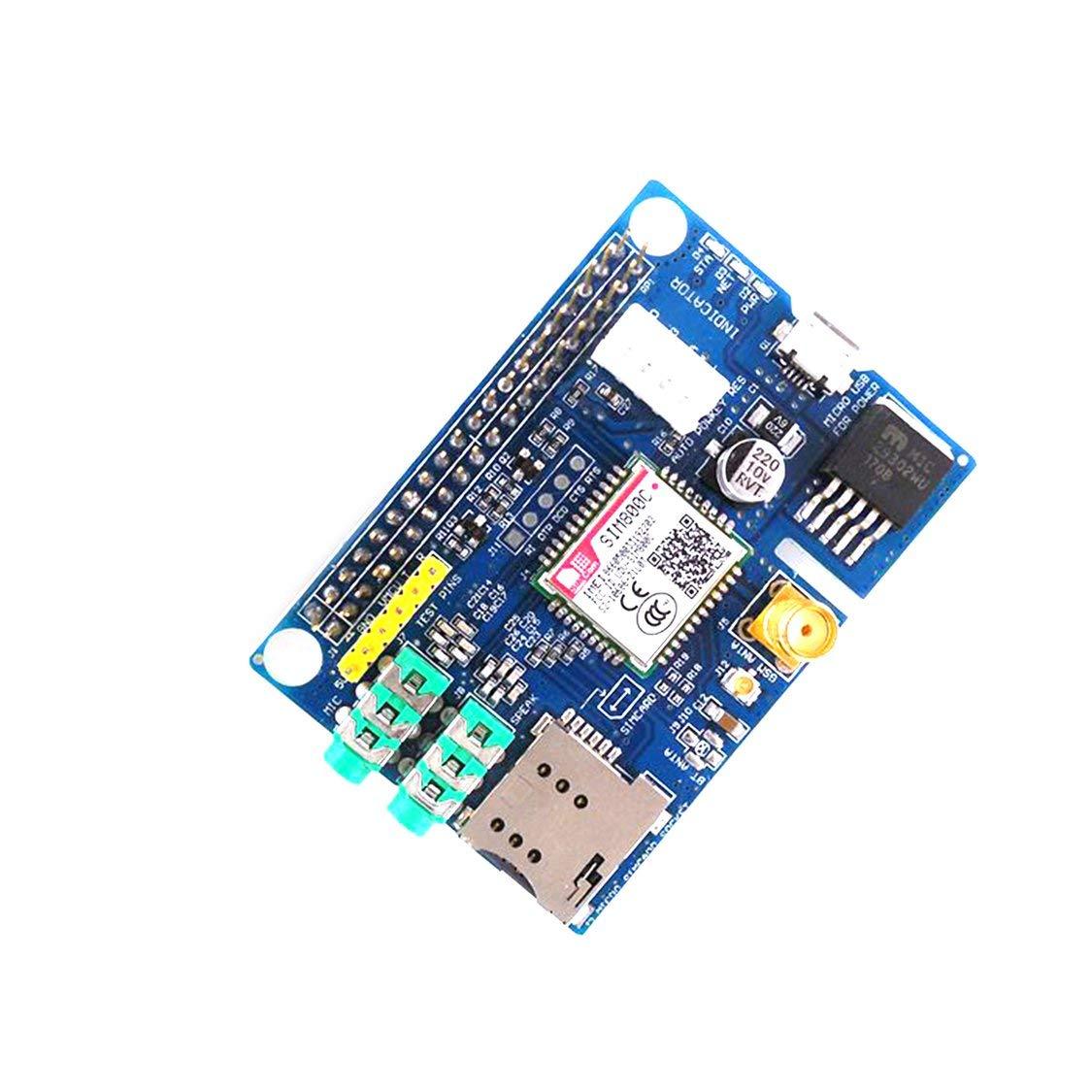 Blau /& Silber Professionelle Kleine Gr/ö/ße SIM800C GSM GPRS Modul Quad-band Entwicklungsboard Modul Geeignet f/ür Raspberry Pi
