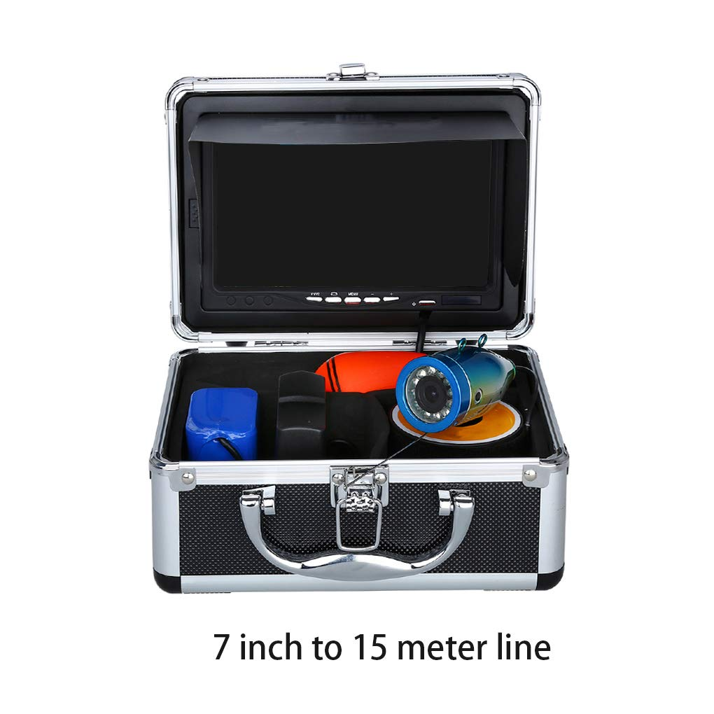 Fish Finder Underwater Fishing Camera 7 Video Detector Anti-Sunshine Infrared IR LED Tracker