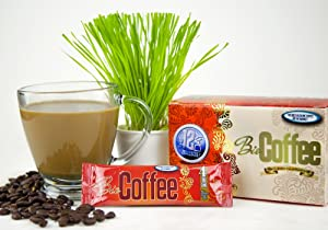 Bio Coffee- NEW! - First Organic Instant Non-dairy Alkaline Coffee (12 Sachet Box)
