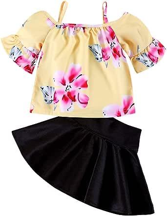 Xmiral 2Pcs Conjuntos de Niñas Camiseta Estampado Floral sin ...