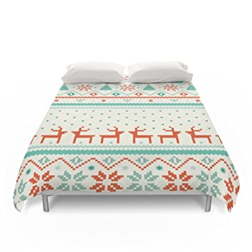 "Society6 Festive Fair Isle Duvet Covers King: 104"" x 88"": Tracie ..."
