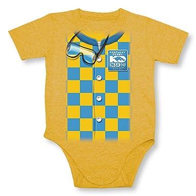 Kentucky Derby 139 Unisex Baby Jockey Silks Romper Gold 24mo