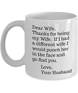 dear wife mug dear wife punch in the face mug funny punch wife 11