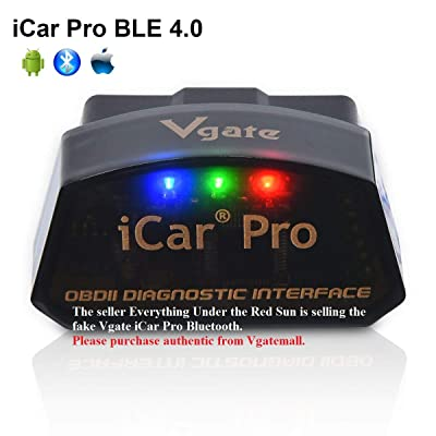 vgate iCar Pro Bluetooth 4.0 (BLE) OBD2 Fault Code Reader OBDII Code Scanner Car Check Engine Light iOS iPhone iPad/Android: Automotive