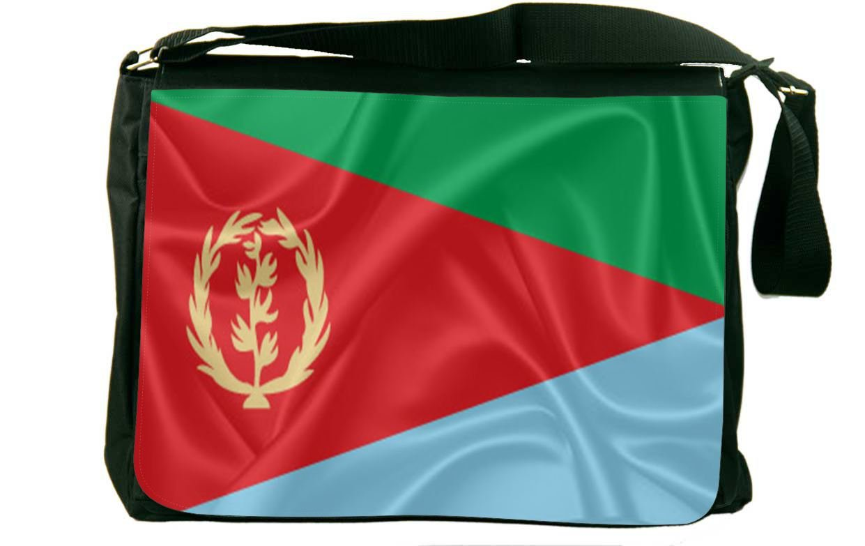 Rikki Knight Eritrea Flag Messenger Bag School Bag