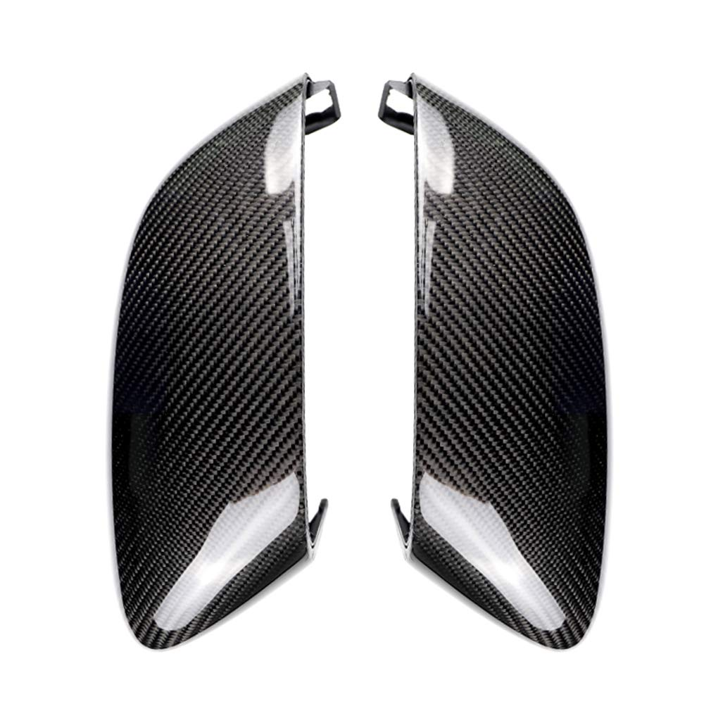 Topfire Replacement for BMW 5 Series G30 2017-2018 1 Pair Rearview Mirror Carbon Fiber Cover Trim Shell Caps
