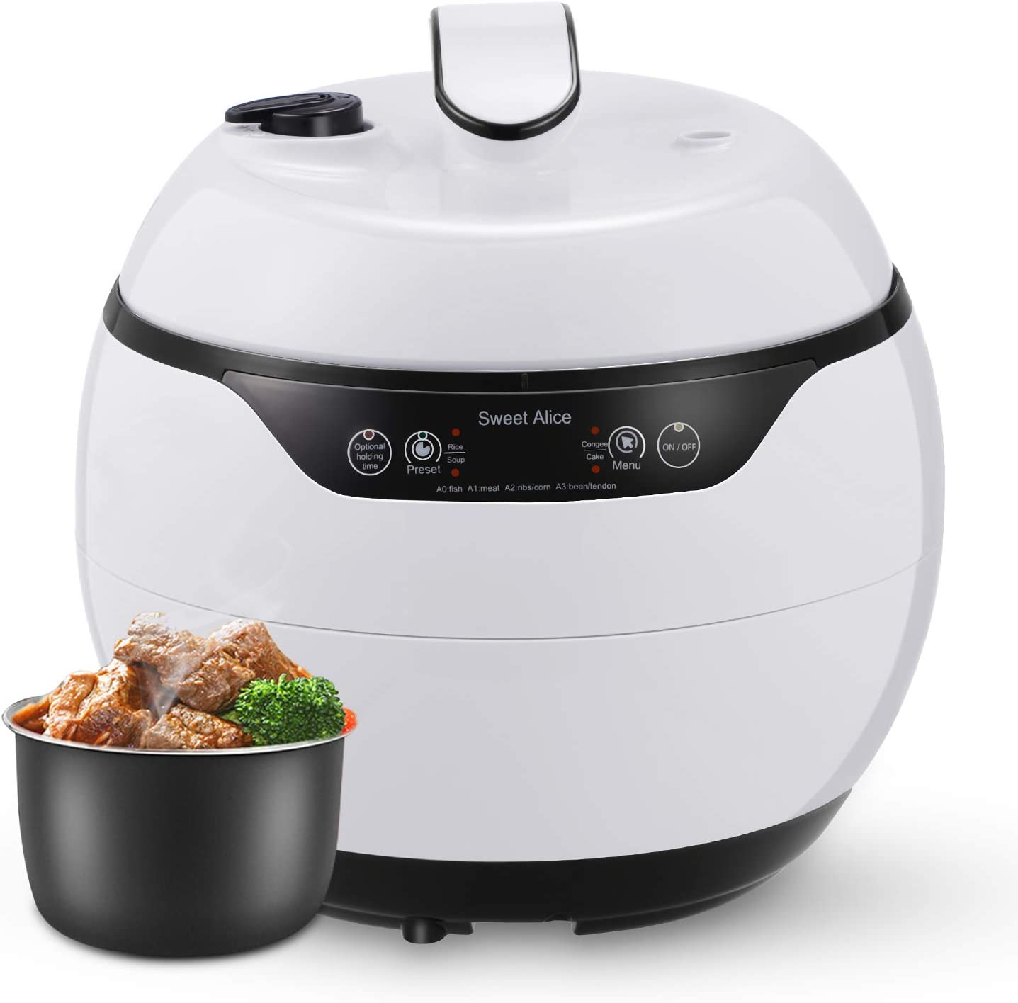 Smart Pressure Cooker, 4qt Electric Rice Cooker Multi Function instant Digital pot Non-stick Preset Steamer quick Pot 24h Warmer with time display