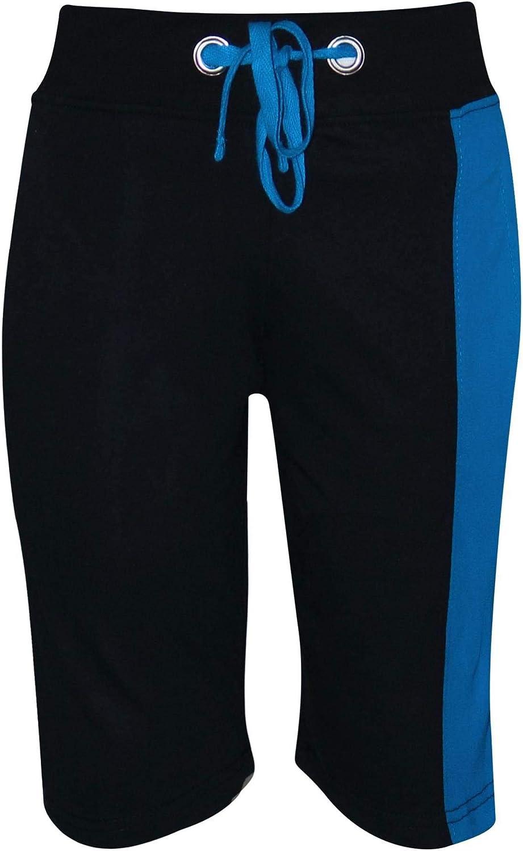 Kids Boys T Shirt Shorts 100/% Cotton Contrast Panel Top Summer Short Set 5-13 Yr