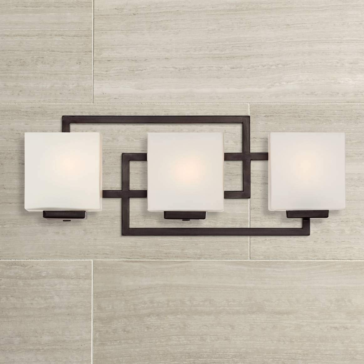 Lighting On The Square 21 Wide Bronze Bath Wall Light