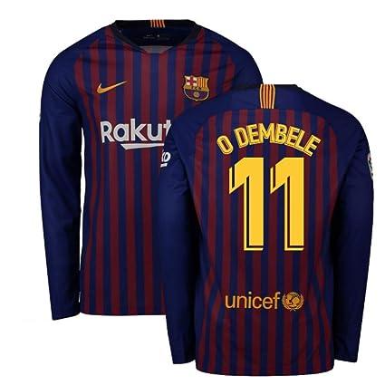 buy popular d6db1 5f160 Amazon.com : 2018-2019 Barcelona Home Nike Long Sleeve ...
