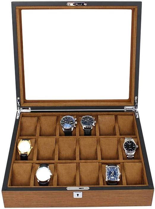 GOVD Caja para Guardar Relojes Madera Estuche para Guardar Relojes ...