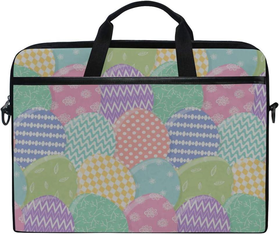 College Students Business Peopl Laptop Bag Tender Happy Easter Pattern Mess 15-15.4 Inch Laptop Case Briefcase Messenger Shoulder Bag for Men Women