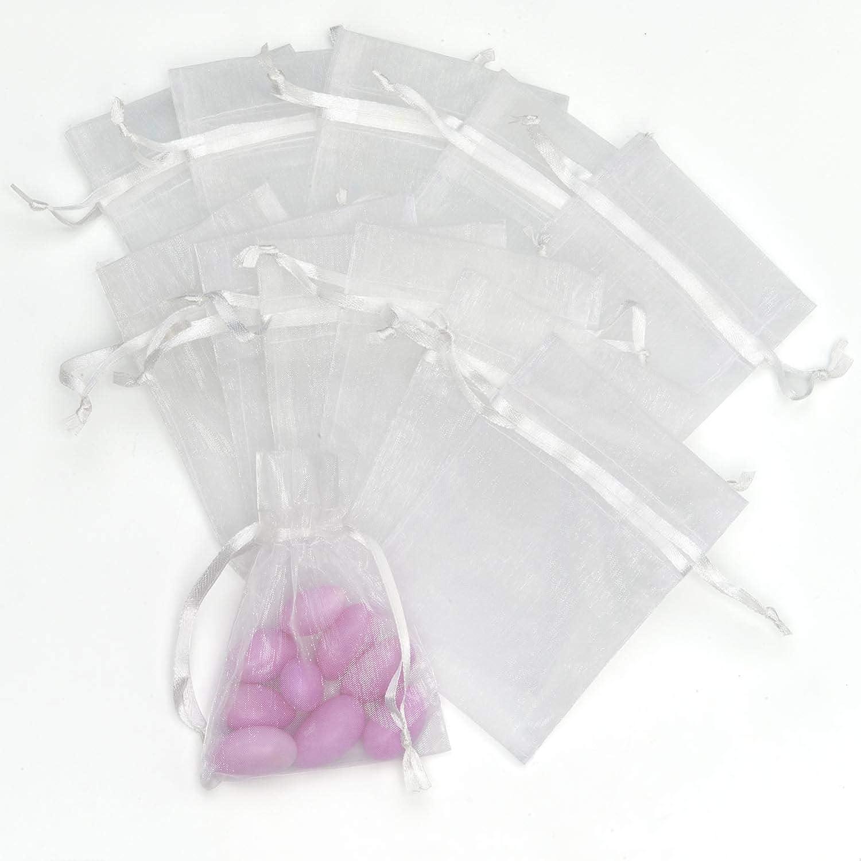 Darice Organza Bags 3x4 12//Pkg-White 1404-25