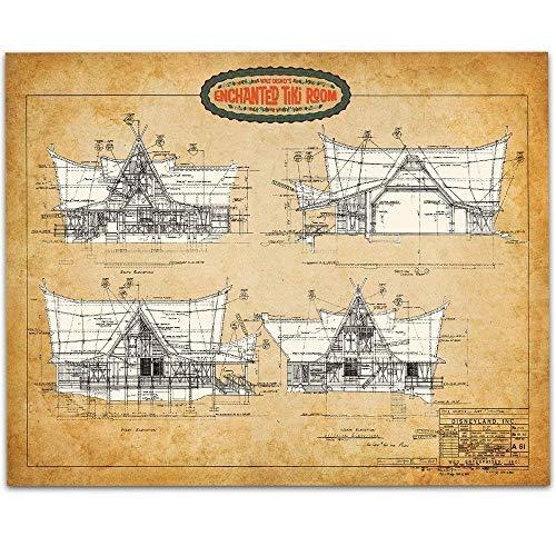 Disney Tiki Room - 11x14 Unframed Patent Print - Great Room Decor or Gift Under $15 for Disneyland Fans