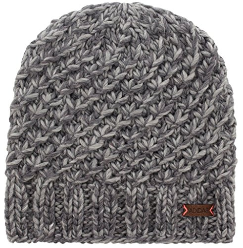 adidas Women's Whittier Beanie, Deepest/Space Grey Marl/Tactile Rose, One ()