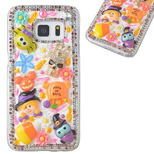 Beauxbatons Halloween Costume (Spritech(TM) 3D Handmade Crystal Phone Case for Samsung Galaxy S6 Edge Plus,Helloween Style Monster Pumpkin Design Smartphone Cover)