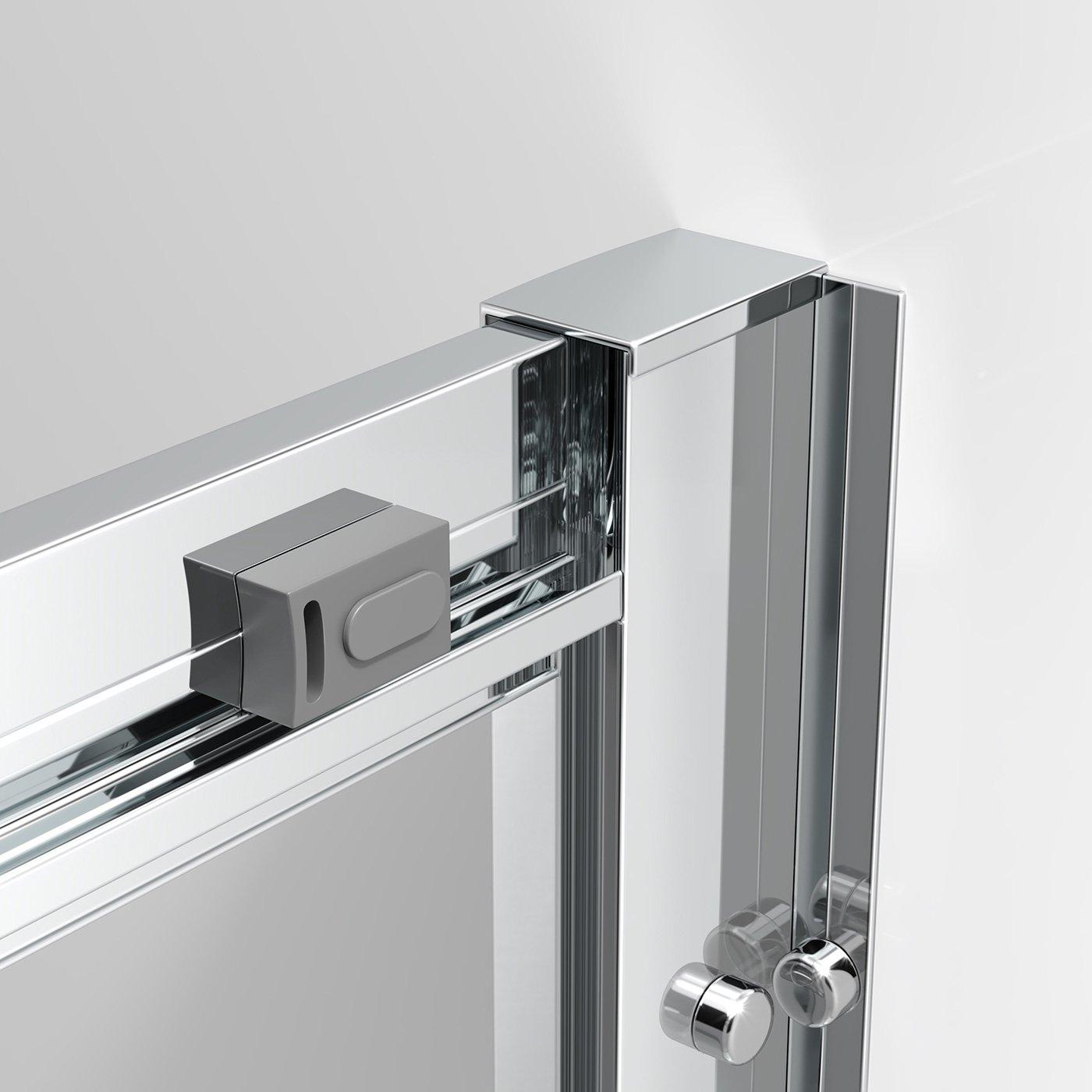 Ibathuk 1200 X 760 Modern Sliding 6Mm Glass Shower Enclosure
