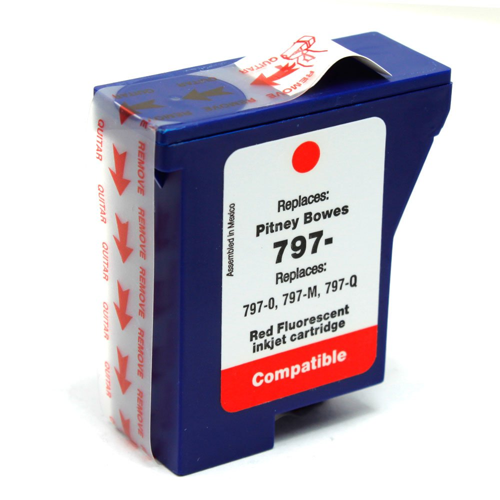 SaveOnMany ® Pitney Bowes 797-0, 797-M, 797-Q New Compatible Red Fluorescent Ink Cartridge For Mailstation 2, K700, K7M0 Ninestar Technology Co. Ltd.