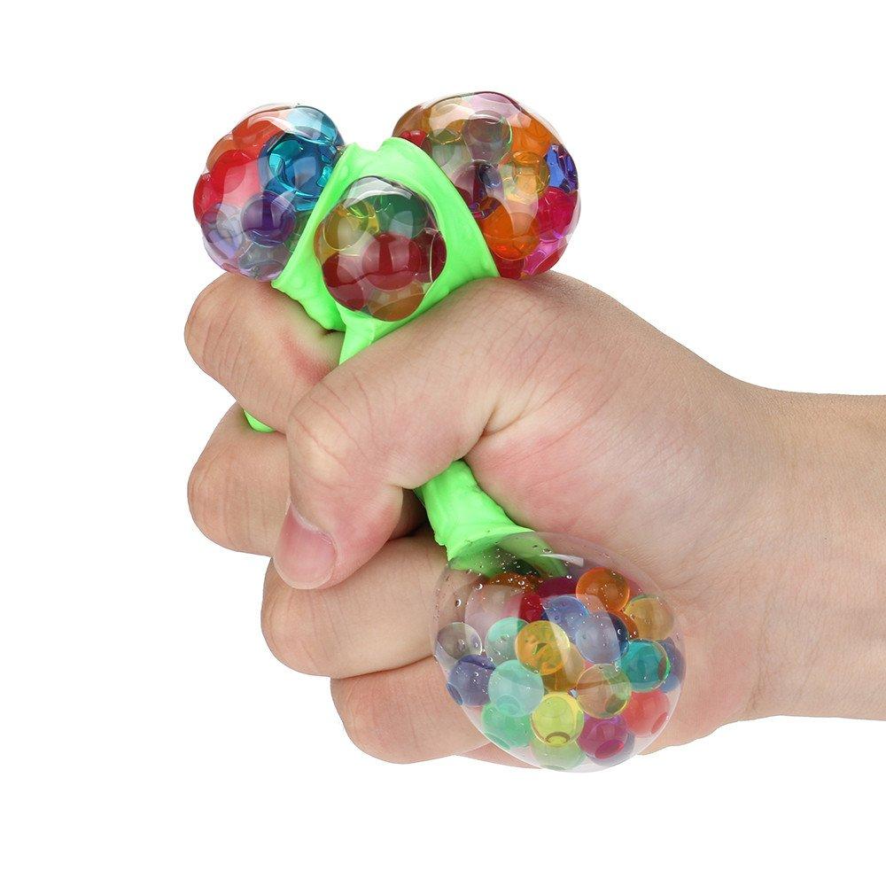 Kanzd Novelty Fun Emoji Grape Ball Mesh Squishies Pressure Ball Stress Reliever Toys (Green)