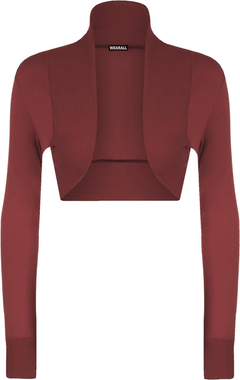 WearAll Womens Shrug Long Sleeved Bolero Top 10896