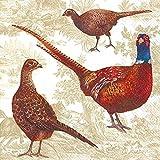 Ideal Home Range 20 Count Luncheon Napkins, Pheasant Scene