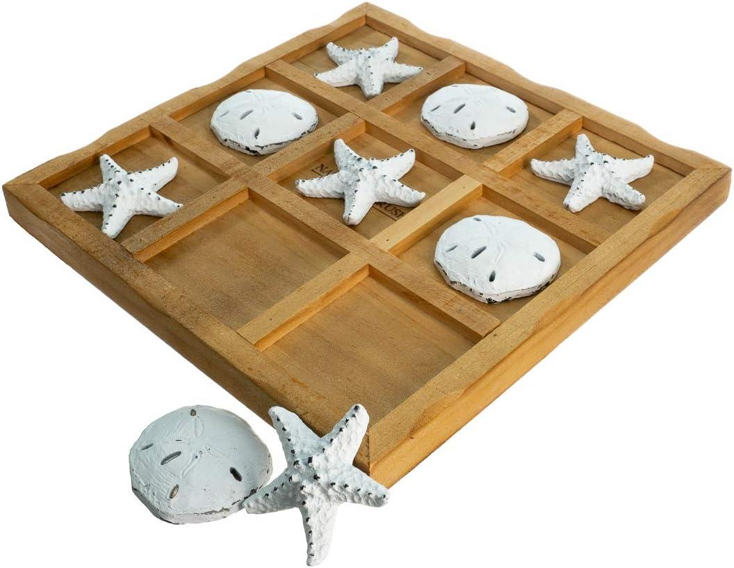 Coastal Table Top Tic-Tac-Toe Board Game