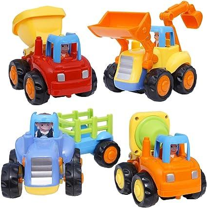 1 x Friction Power Push And Go Cartoon Mini Car Kids Christmas Toy Gift