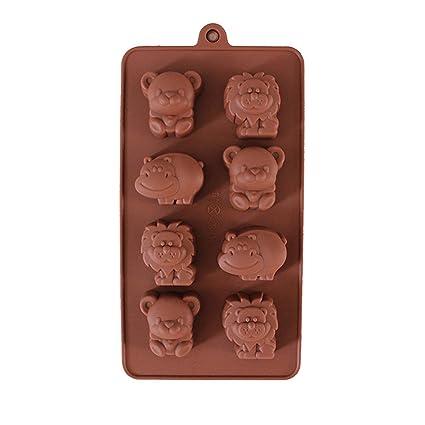 FantasyDay® 8 cavidades moldes de silicona para hielo, tartas, chocolate - 100%