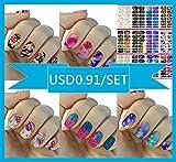 168Pcs/12 Premium Sheet($0.99/ Sheet) - Love Nest Nail Art Tips Stickers False Nail Design Manicure Decals Nail Art Water Nail Art Decal / Tattoo / Sticker