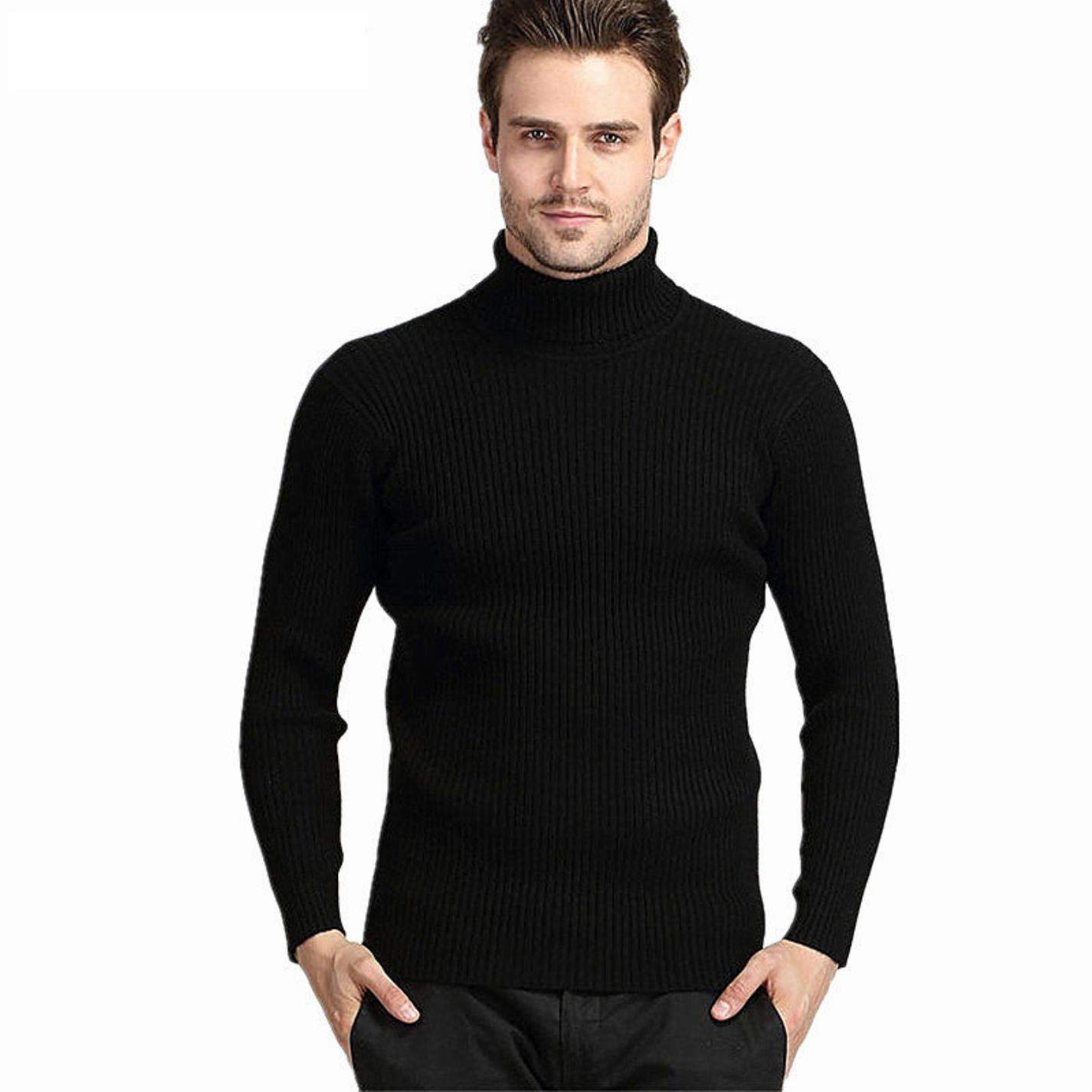 AAUCl Mens Winter Thick Warm Cashmere Sweater Turtleneck Sweaters Slim Fit