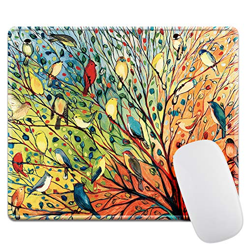 LIEBIRD Thick 4mm Gaming Mouse Pad - Personality Mouse Pads with Design - Non Slip Rubber Mouse Mat (Colorful Bird)