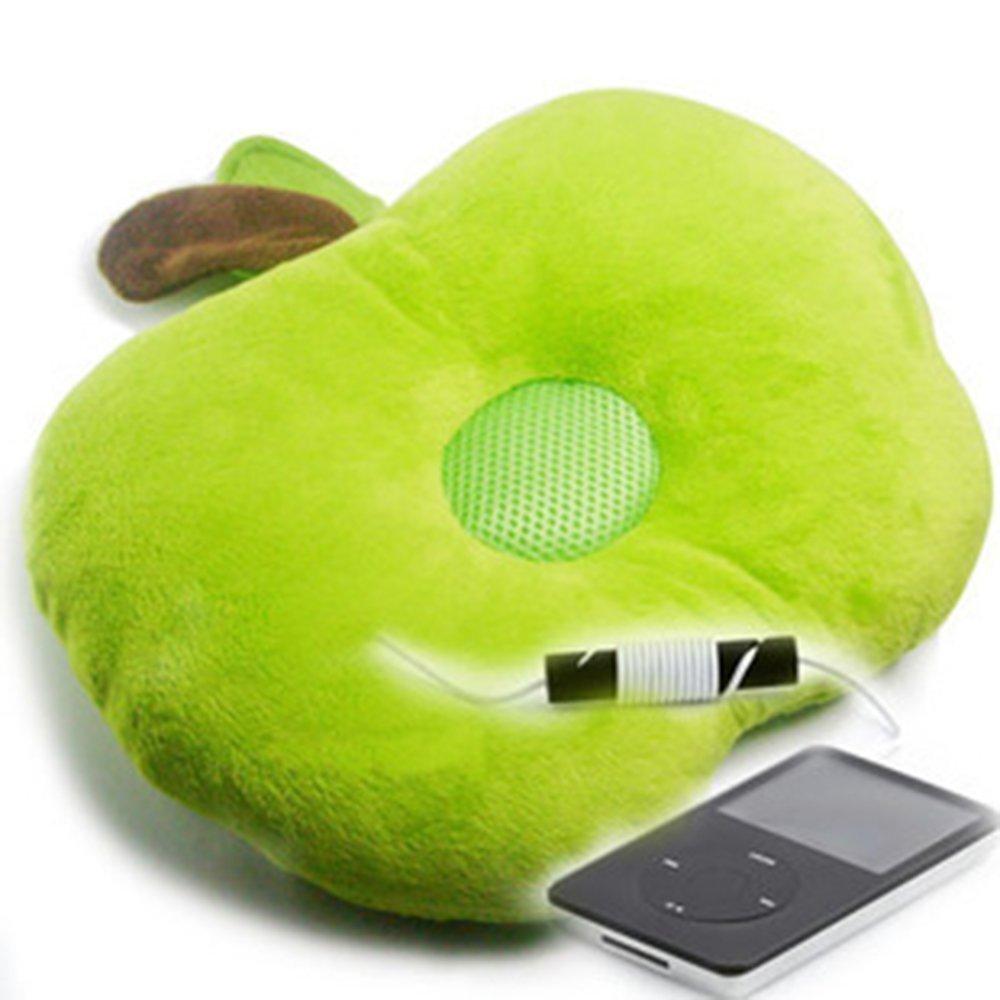 Primi Novelty Diseño Verde Cute altavoz música cojín ...