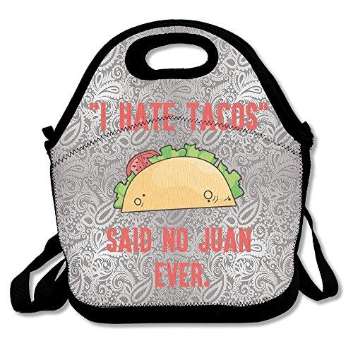 Dianqusha I Hate Tacos Said No Juan Ever Women's Lunch Bag