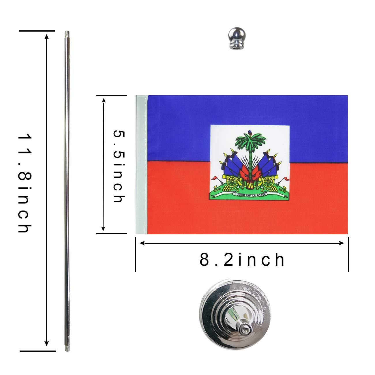 GentleGirl Dominica Flag Dominican Flag Table Flag,Desk Flag,Office Flag,International World Country Flags Banners,Festival Events Celebration,Office Decoration,Desk,Home Decoration